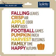 Fall Block List