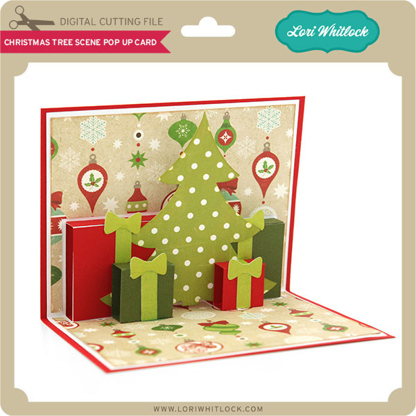 Christmas Pop Up Cards.Christmas Tree Scene Pop Up Card