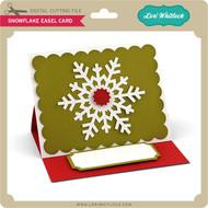 Snowflake Easel Card