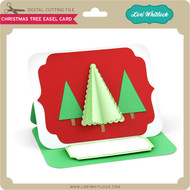 Christmas Tree Easel Card