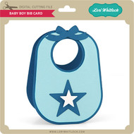 Baby Boy Bib Card