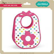 Baby Girl Bib Card