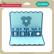 Baby Blocks Boy Pop Up Card