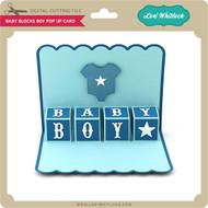 Baby Blocks Boy Pop Up Card