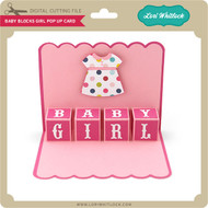 Baby Blocks Girl Pop Up Card