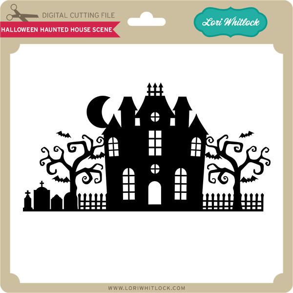 Halloween Haunted House Scene Lori Whitlock S Svg Shop