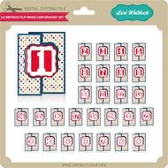 A2 Birthday Flip Swing Card Bracket Set