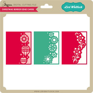 Christmas Border Edge Cards