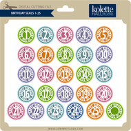 Birthday Seals 1-25