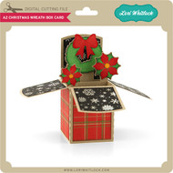 A2 Christmas Wreath Box Card
