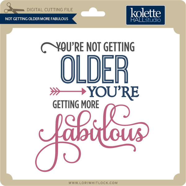 your not getting older