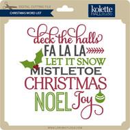 Christmas Word List