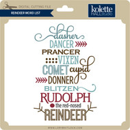 Reindeer Word List