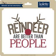 Reindeer Better Than People
