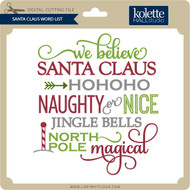 Santa Claus Word List