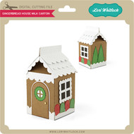 Gingerbread House Milk Carton
