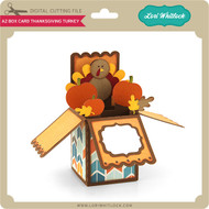 A2 Box Card Thanksgiving Turkey
