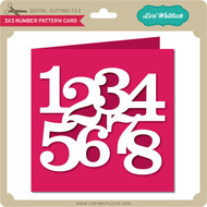 3x3 Number Pattern Card