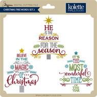 Christmas Tree Words Set 2