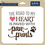 Road to My Heart Paw Prints