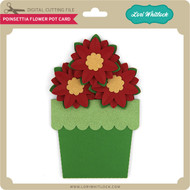 Poinsettia Flower Pot Card