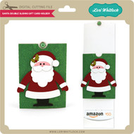 Double Sliding Santa Gift Card Holder