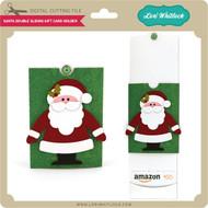 Double Sliding Santa Gift Card Holder