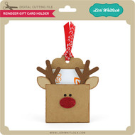 Reindeer Pocket Gift Card Holder