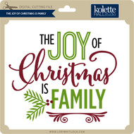 Joy of Christmas is Family