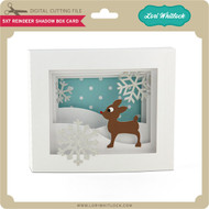 5x7 Reindeer Shadow Box Card