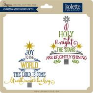 Christmas Tree Words Set 5