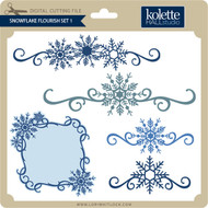 Snowflake Flourish Set 1