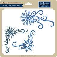 Snowflake Flourish Set 2