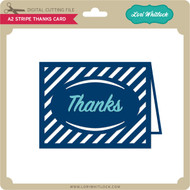 A2 Stripe Thanks Card