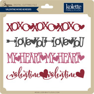 Valentine Word Borders