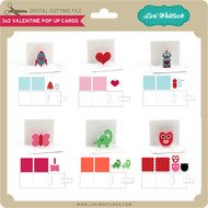 3x3 Valentine Pop Up Cards