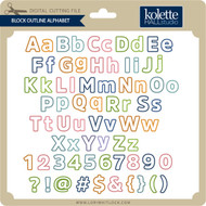 Block Outline Alphabet