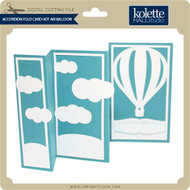 Accordion Fold Card Hot Air Balloon