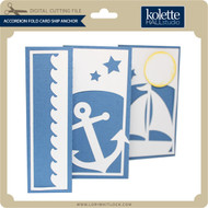 Accordion Fold Card Ship Anchor