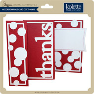 Accordion Fold Card Dot Thanks