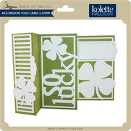 Accordion Fold Card Clover