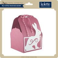 Tag Topped Favor Box Bunny