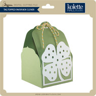 Tag Topped Favor Box Clover