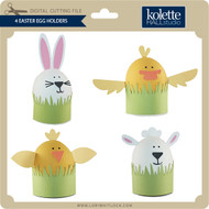 4 Easter Egg Holders