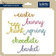 Script Word List Easter