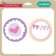 2 Scalloped Circles