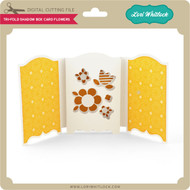 Tri-Fold Shadow Box Card Flowers