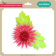 3D Chrysanthemum Flower