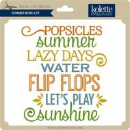 Summer Word List