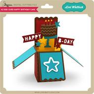 A2 Box Card Happy Birthday Cake